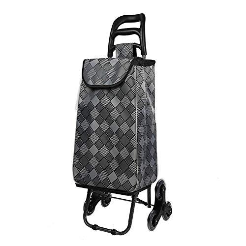 moxin Klappbar Einkaufstrolley, Lebensmittel Einkaufswagen Treppensteiger Versandtasche Größe, Einkaufswagen mit Abnehmbarer Tasche,G