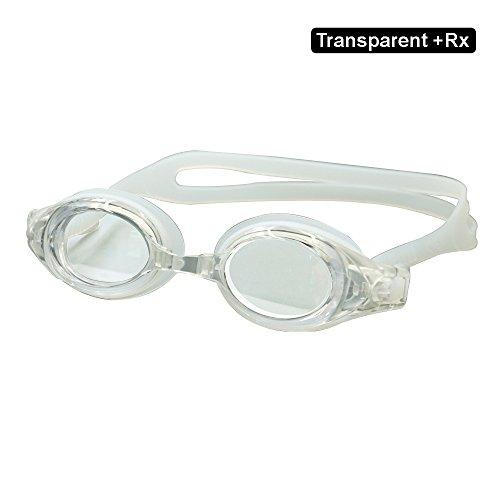EnzoDate Optische Brille Hyperopie RX + 1 bis + 8 Myopie - 1 bis-8 Erwachsene Kinder unterschiedliche Stärken für jedes Auge Schwimmen (Kraft: +7, Transparent)