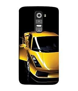 PrintVisa Yellow Car With Open Window 3D Hard Polycarbonate Designer Back Case Cover for LG G2 :: LG G2 Dual D800 D802 D801 D802TA D803 VS980 LS980