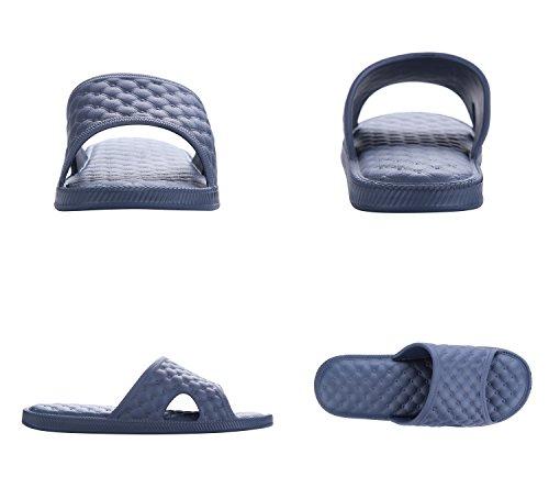 NEOKER Unisex-Erwachsene Sandalen Slipper Badeschuhe Low-Top Blau