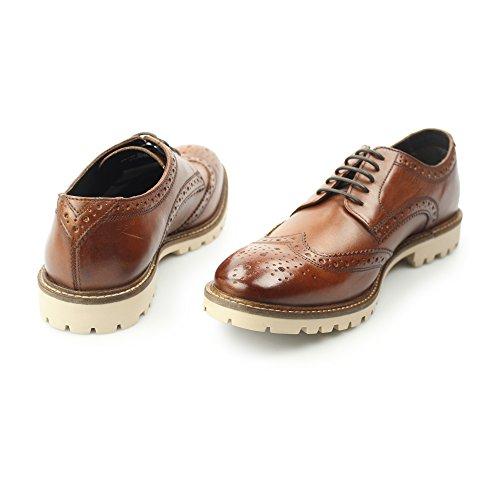 Base London Raid, Hommes Chaussures en cuir Marron