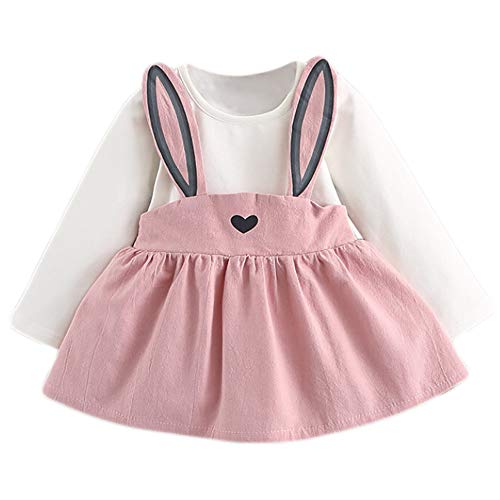 MEIbax Baby Kinder Kleinkind Kleidung niedlichen Kaninchen Bandage Anzug Mini Kleid Mädchen Prinzessin ()