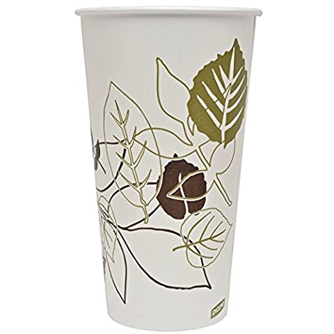 Dixie 328PPATH Pathways Poly Paper Cold Cup, 32 oz Capacity (15 Sleeves of 40)