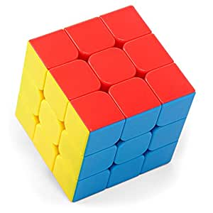 MysticPlay 3X3X3 High Speed Stickerless Puzzle Cube (Speed Cube) Multicolor