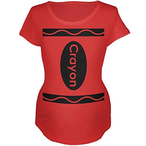 Halloween Crayon Kostüm Mutterschaft weichen T Shirt rot - T-shirts Baby Mutterschaft Halloween