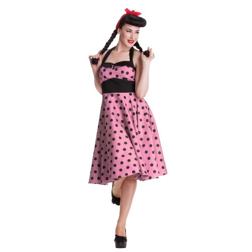 Robe clair bunny aDELAIDE 50 s robe rose Rose