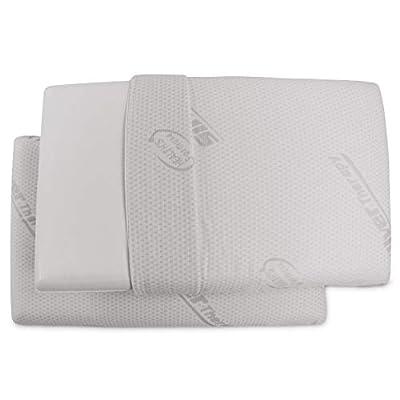 Baldiflex, Coppia di Cuscini in Memory Foam, Modello Saponetta, Altezza 11 cm, Ideale per dolori Cervicali, Fodera in Silver Safe.