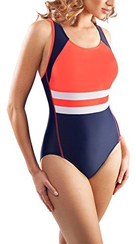 Aquarilla Badeanzug Albacete navy/rot (Kostüme Plus Für Size Frauen 70's)