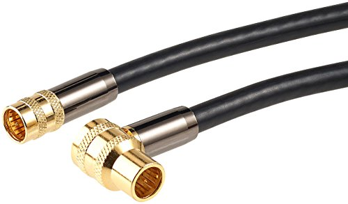 auvisio Sat Kabel: HDTV-Sat-Antennenkabel (F-Winkelstecker), 2 m, 105 dB, 4X-Abschirmung (Satanschlusskabel)