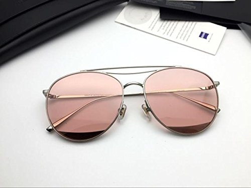 Unisex Sonnenbrille Für sanfte Monster-Sonnenbrille New Gentle man or Women Monster eyeware V brand Odd Odd 02(p) sunglasses for Gentle monster sunglasses -silver frame Flat pink tinted lensess