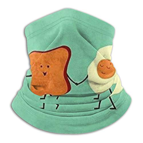 ghkfgkfgk Gehen wir alle frühstücken, Kaffee, Brot, Ei, Speck, Fleece, Nackenwärmer, Männer - Winddichte Nackenschutzmaske für kaltes Wetter - Gesichtstuch für Outdoor-Aktivitäten im Winter