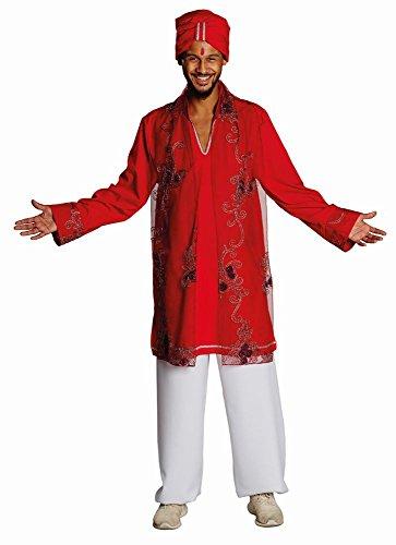 Kostüm Herren Für Bollywood - Rubie's Herren Kostüm Bollywood Inder mit Turban zu Karneval Fasching Gr.48