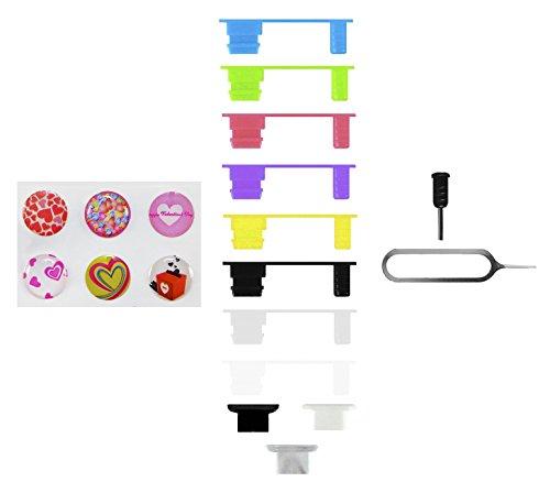 10-x-xcessor-port-di-ricarica-e-spine-di-protezione-di-jack-per-cuffie-set-di-7-3-spines-in-silicone