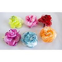 Pack de 6 coleteros de tela de flores con lazo. Envío GRATIS 72h Sánchez  Alegría 484845c615c2