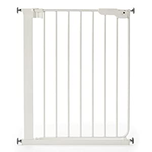 Safetots Wide Walkthrough Narrow Gate, 62.5-69.5 cm Safety 1st Adjusts to fit openings from 73 cm to 80 cm Extends up to 136 cm with separately available extensions Strong steel frame with four-point pressure fit 7