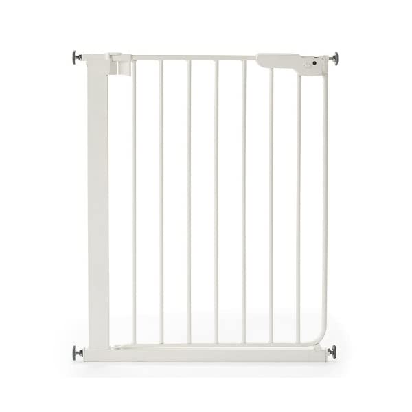 Safetots Wide Walkthrough Narrow Gate, 62.5-69.5 cm Safetots Pressure fitted Includes a self testing pressure indicator to show if the gate has been installed correctly Two way opening. Triple locking system 1