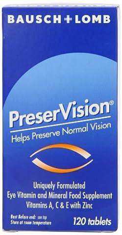 Baush&Lomb Preser Vision Multivitamin & Mineral 120 Tablets.