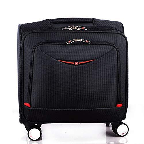 HAMIMI Oxford Messinggepäck-Spezialgepäckwagen, Schwarz 17 Zoll Kofferraum -