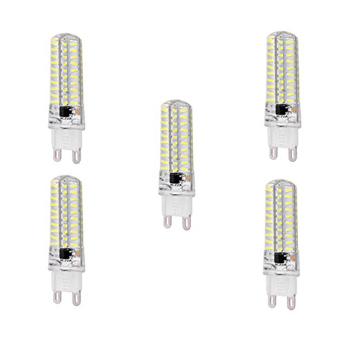 JIALUN-Ampoules Dimmbare LED G4 / GY6.35 / G9 5W T 80 SMD 4014 320-350 Lm Warmweiß / Kaltweiß AC200-240V Bi-pin Lichter 5ST ( Color : Cool white-G9 )