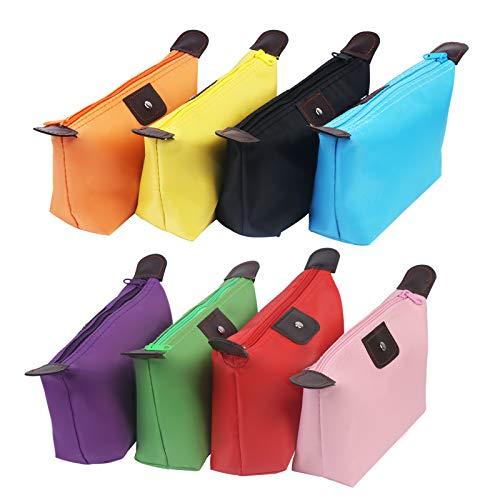 8tlg ZERHOK Tragbar Kosmetiktasche Wasserdicht Make Up Tasche Kulturbeutel Schminktasche Nylon Kulturtasche für Handgepäck Reise Urlaub