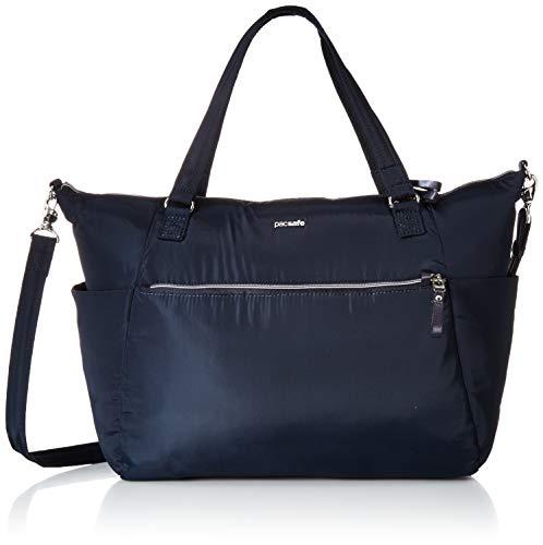 Pacsafe Stylesafe Tote Shoppertasche, Schultertasche für Damen, Handtasche mit Diebstahlschutz, Umhängetasche mit Sicherheits-Features, 14,5 Liter, Blau/Navy -