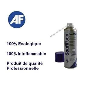 AF - Gaz Depoussierant ininflammable AF1010 - 400g - Qualite Professionnel - Nettoyant Clavier PC Macintosh