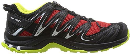 Salomon  Xa Pro 3D, Baskets pour homme rouge * Noir - Schwarz (Quick/Black/Gecko Green)