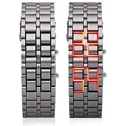 Iron Samurai Led Full Metal Watch Lava Red time led - Stylish Design