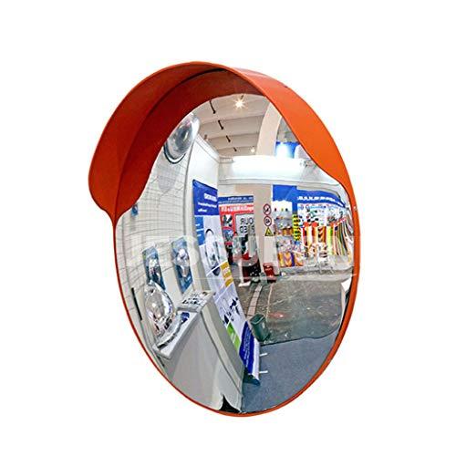 Spiegel Der Verstellbaren Halterung (Konvexer Verkehrsspiegel aus Polycarbonat für die Sicherheit im Straßen- und Geschäftsverkehr mit Verstellbarer Halterung für Toten Winkel Spiegel orange,45cm)