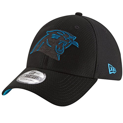 New Era Carolina Panthers 39thirty Stretch Cap - NFL 2018 - Training Black - Black - S-M (6 3/8-7 1/4)