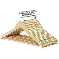 Wooden Coat Hangers Suit for Garment Clothes Wardrobe Trouser