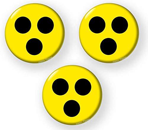 3-STUCK Blindenzeichen Punkte Blind Hilfe Zeichen - sicherheitsnadel Blindenplakette …