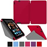 """rooCASE Kindle Fire HDX 7"""" Origami SlimShell Case Cover - Red"""