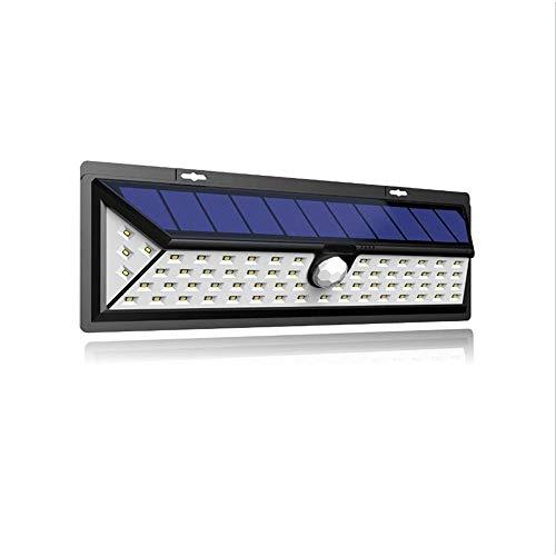 Wlnnes Luci solari esterna 66 LED 3 Modalità opzionale Luce senza fili del sensore di movimento a 180 ° grandangolare, IP65 impermeabile solare esterna Luce solare della parete della lampada di ino