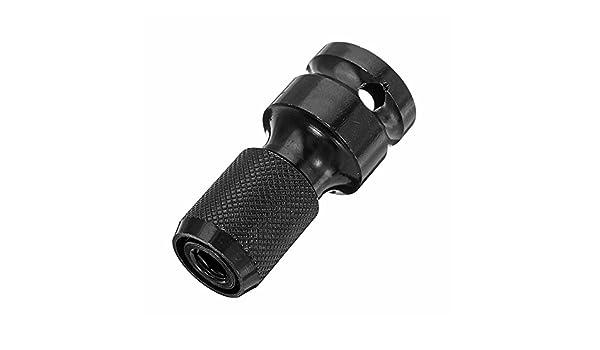 KUNSE 1//2 inch Square /À 1//4 inch Hex Femelle T/élescopique Adaptateur /À Douille Perceuse Mandrin Convertisseur DImpact