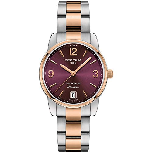 Certina Women's DS Podium 33mm Steel Case Quartz Watch C034.210.22.427.00