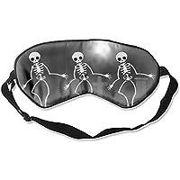 Schlafmaske, Halloween, Skelett, Friedhof, verstellbare Augenmasken preisvergleich bei billige-tabletten.eu