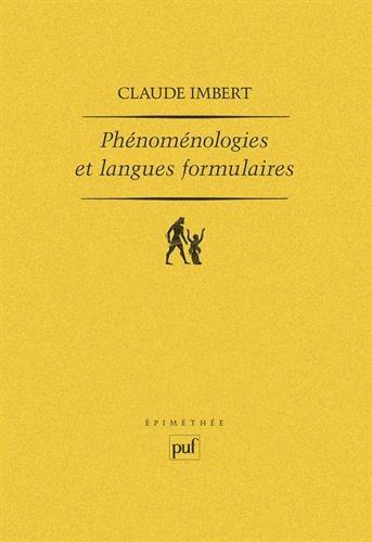 Phénoménologie et langues formulaires