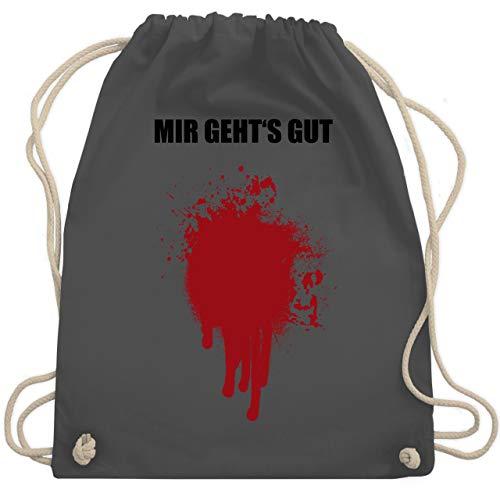 Halloween - Mir geht's gut Blutfleck Kostüm - Unisize - Dunkelgrau - WM110 - Turnbeutel & Gym Bag