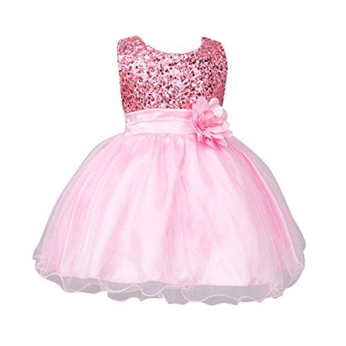 Brightup 0-24 Monate Baby Mädchen Kleider, Pink, 18-24 (Au Kostüm Xviiie)