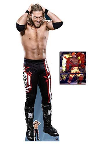 BundleZ-4-FanZ Edge WWE Lebensgrosse und klein Pappfiguren/Stehplatzinhaber/Aufsteller Fan Pack, 195cm x 70cm Enthält 8X10 (25X20Cm) starfoto (Wwe In Edge Der)