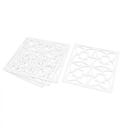 Sourcingmap sala cuore carved modello schermo sospeso finestra divisoria 29cm x 29cm 4pz bianchi
