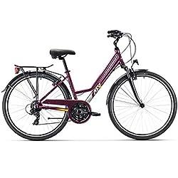 """AFX Bicicleta Urbana Mixta 28"""", Oslo 430, Color Burdeos"""
