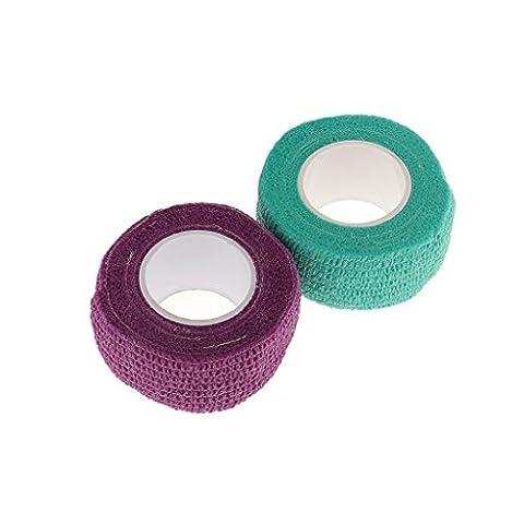 Sharplace 2 Rouleaux Bandage à Base de Latex Auto Adhésif Ruban Protection Soin Ongle Outils de Salon Nail Art