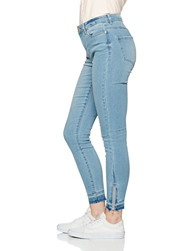Vero Moda Vmseven Nw Slim Ankle Tanja Mix, Jeans Femme Bleu (Light Blue Denim)