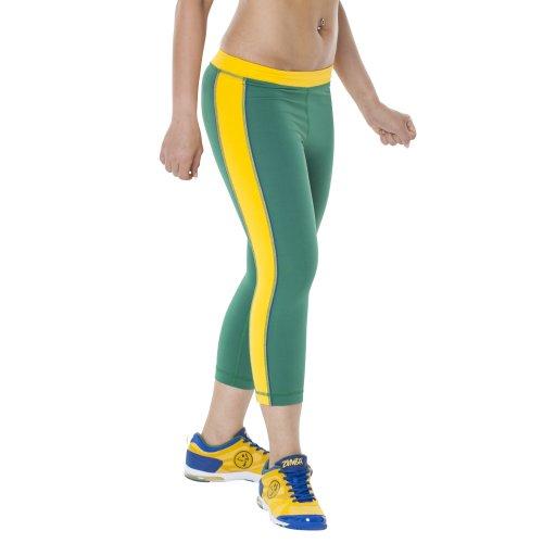 Zumba Fitness Legging pour femme Couleurs de l'équipe nationale du Brésil Vert - Vert