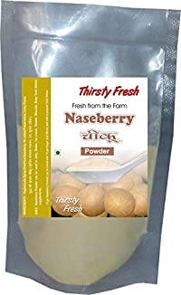 Thirsty Fresh Naseberry | Chickoo Powder 200g - (Pack of 4x50g) | Spray Dried Ready to Use