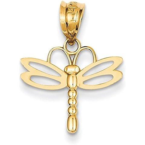 14 k con pendente a forma di libellula, JewelryWeb