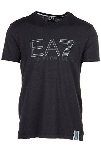 Emporio Armani EA7 t-shirt maglia maniche corte collo a v uomo nero EU M (UK 38) 3YPTI3 PJ30Z 1200