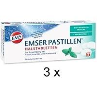 Emser Pastillen Halstabeletten 3x30 Stück mit Menthol Frische, Zuckerfrei, zur Anwendung bei Halsschmerzen und... preisvergleich bei billige-tabletten.eu